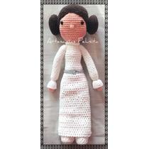 Star Wars Princesa Leia Muñeca Tejida Crochet