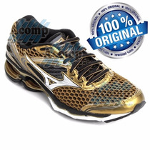 Tênis Mizuno Wave Creation 17 Golden Run Feminino Masculino