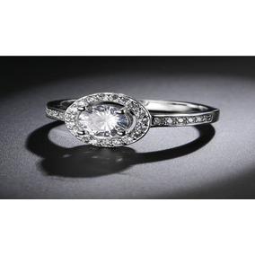 Anillo Compromiso Circon Corte Diamante + Caja +envio Gratis