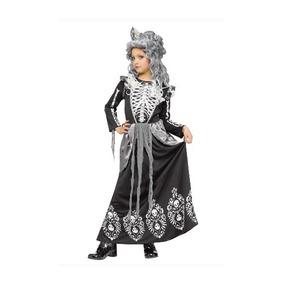 Disfraz Niña Dia De Muertos Calavera Talla 14 A 16 Años