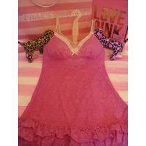 Victorias Secret The Pink Lace Key Baby Doll Sz M