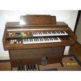 Organo Yamaha Teclado Doble Con Pedalera