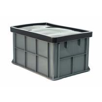1034 / Caja De Plastico / Quebec Con Tapa Medidas: 50x34x27h