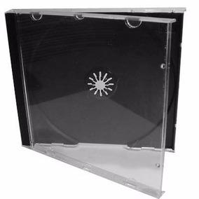 50 Capas Caixinha Acrilica Cd Box Tradicional Transparente
