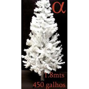 Árvore De Natal Branca Canadense 1,8m 450g.+brinde.loja Alfa