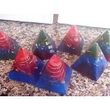10 Orgonites Piramides + 6 Tower Buster Com Turmalina