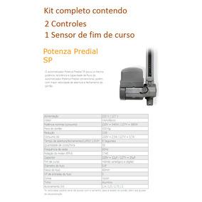 Kit Motor Basculante Ppa Potenza +fotocélula F10 +3 Suportes