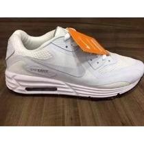 Tênis Nike Air Max 90 Lunar Vermelho N38 Ao N43 12x S Juros