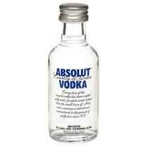 Miniatura Vodka Absolut- Tradicional - Mini Garrafa