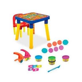 Mesa Infantil Mesinha Play Doh Desmontavel Com Cadeira Linda