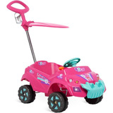 Carrinho Infantil Passeio Quadriciclo Rosa Menina Anti Ruido