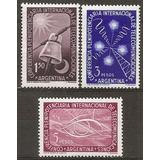 Argentina Año 1954 Serie 3v. Mt 540/2 Gj 1026/8 U$s6. Mint