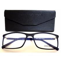 Ea6171 Unissex Armação Óculos De Grau Preto E Azul + Case