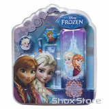 Set Regalo Escolar Utiles Cartuchera Regla Princesas Frozen