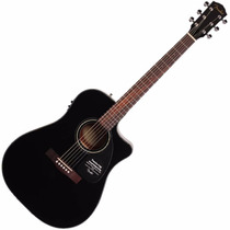 Fender Cd-60ce Black Guitar Electroacústica Estuche - Oddity