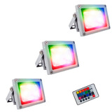 Reflector Luminaria Led 10 W Rgb Multicolor Promoción X3
