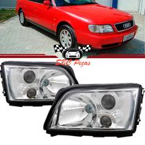 Farol Audi A6 Com Auxiliar Milha 1994 1995 1996 94 95 96 Par