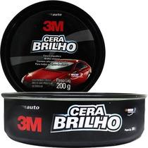 Kit C/4 Cera Polir Automotiva 3m 200g C/ Silicone E Carnaúba