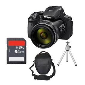 Câmera Nikon P900 16mp 83x Brindes Bolsa Sd 64gb C/10 Tripé