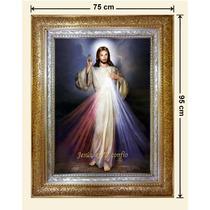 Cuadro Hoja De Oro, Plata, Lienzo, Misericordia, 75x95cm