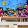 Adesivo Peixe Aquário Decoração Painel Fundo Do Mar Mod04