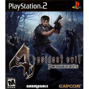 Resident Evil 4 Português Com Cheats Patch Ps2 Desbloqueado