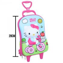 Mini Mochila De Rodinha Hello Kitty 2823p16 Rosa | Catmania