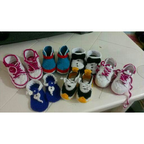 Zapatos Escarpines Boticas Sandalias Todo Tejidos A Crochet