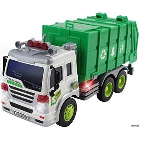 Memtes Fricción Juguete Camión De Basura Con Lu Envío Gratis