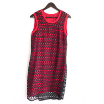 Vestido Rojo Vevu Calado Negro Talle 3