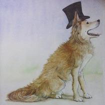 Pintura En Acuarela. Perro