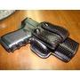 Interna Glock 19/23, Cuero Perforado, Con Broches Pasacinto