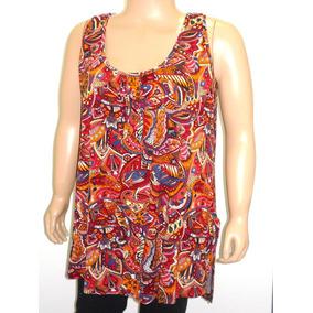 Remera Musculosa Mujer Talle Grande Viscosa Estampada