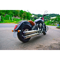 Ponteira Indian Scout 4 Polegadas - Inox - Wingscustom