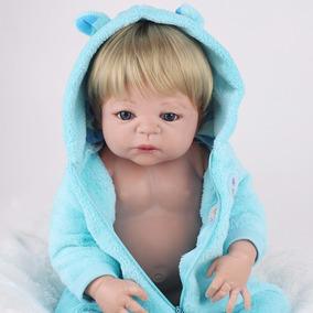 Boneca Bebê Reborn Menino Silicone Barato + 2 Brindes