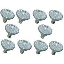 Kit10-lampadas Led Par30 220v Branco Rosca Flc 18led Chuvei