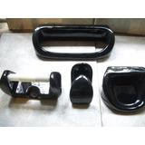 Accesorio Para Baño Color Negro De 4 Piezas Ceramica
