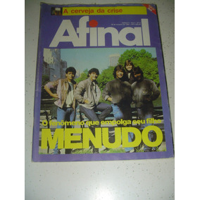 Revista Afinal 9 Menudo Romi-isetta Juruna 1984 Frete Gratis
