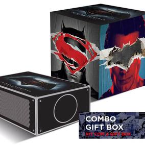 Kit 2 Gift Box Batman Vs Superman Cinema E Luminária