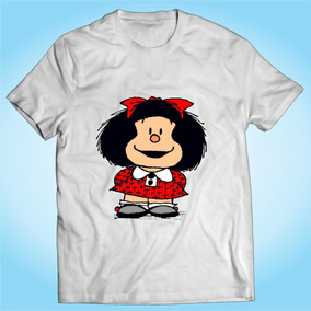 Camisa Mafalda Desenho Quadrinho Hq Gibi Personalizada