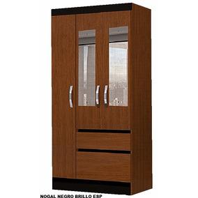 placard ropero moderno puertas de abrir con espejos