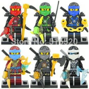 Kit 6 Bonecos Lego Minifigures Ninjago