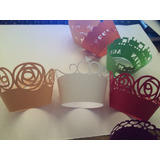 Wrappers Personalizados Calados Cup Cake Boda Cumpleaños