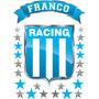 Vinilo Escudo Racing Con Tu Nombre Personalizado 50x70