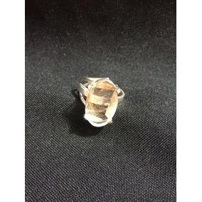 Anel Ajustável Na Prata 950 Com Pedra Rutilo Extra Oferta