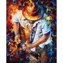 Guitar And Soul - Pintura Al Óleo Del Maestro Leonid Afremov