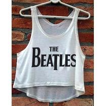 Blusa Cropped The Beatles Feminina John Lennon Regata Banda
