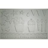 Molde De Silicone Cup Cake Para Confeitaria E Biscuit