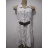 Vestido Branco Tam M Com Cinto Removível Usado Bom Estado