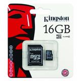 Memoria Micro Sd 16 Gb Sdhc Kingston Para Celulares Camaras